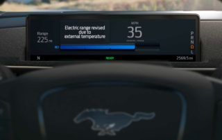 El estimador de rango de Ford Mustang Mach e promete ser mejor que el de Tesla