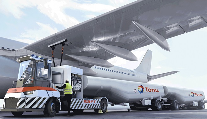 vehículo de carga de combustible de aviones ahora es eléctrico
