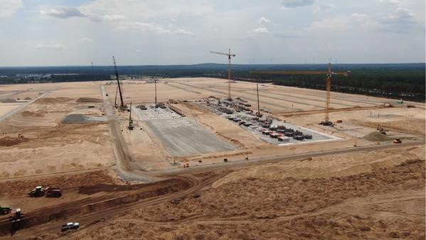 La Gigafactory Berlin de Tesla avanza a paso firme