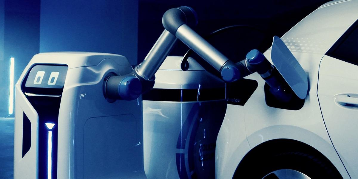 Volkswagen tiene una idea innovadora para recargar los vehículos eléctricos con robots